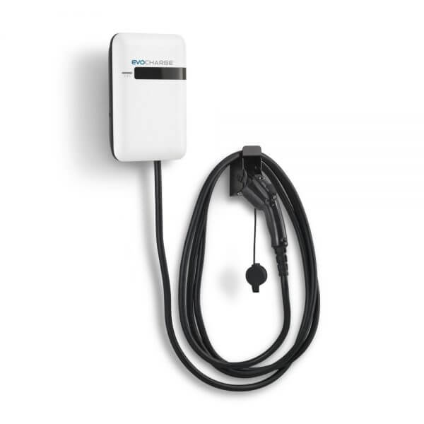 Wall Mount EvoCharge EVSE Level 2 EV Charging Station
